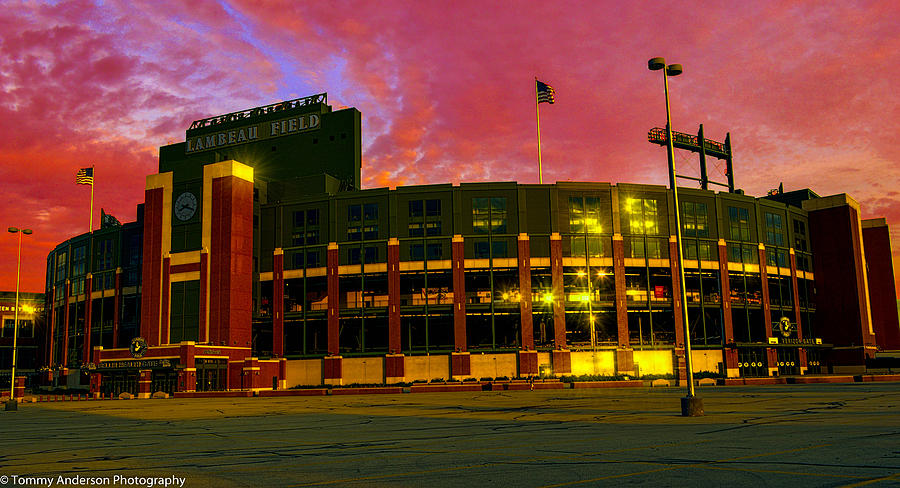 Sunset Over Lambeau Field Photograph By Tommy Anderson
