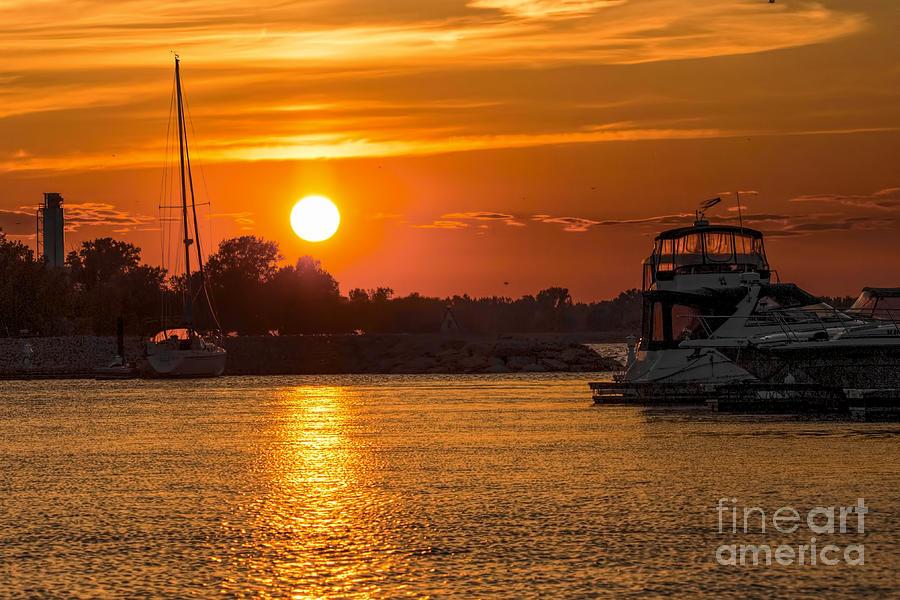 Sunset Photograph - Sunset Over Marina by Nikki Vig