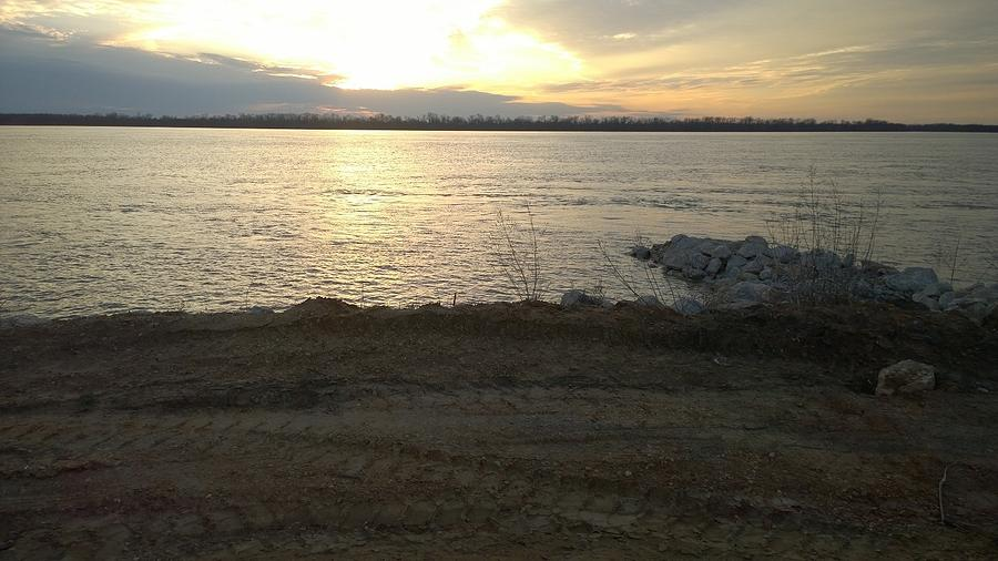 Mississippi River Photograph - Sunset Over Mississippi River by Darrell Lormand