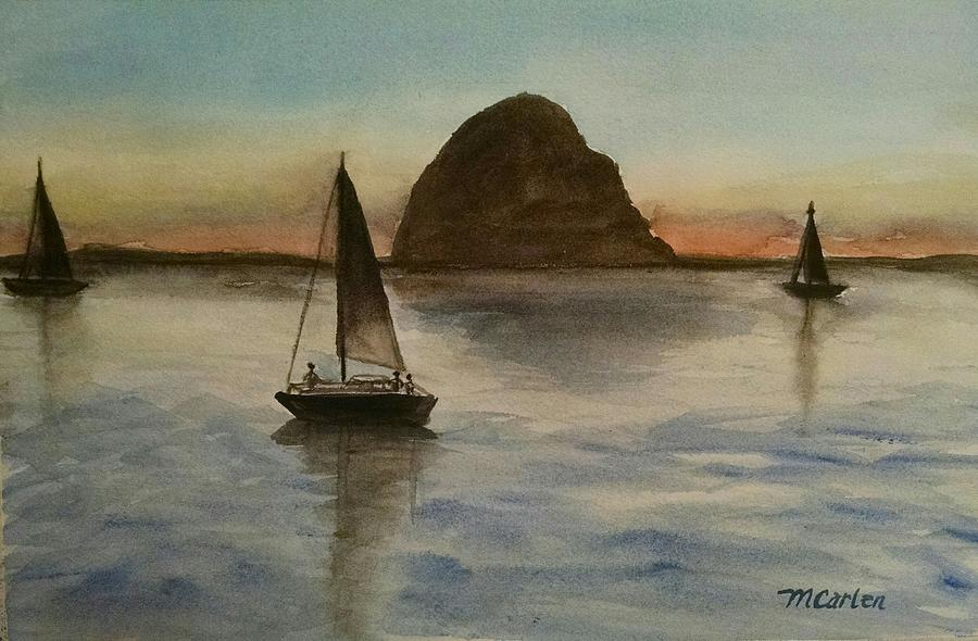 Sunset Over Morro Bay by M Carlen