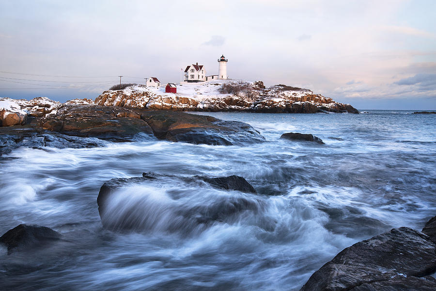 Sunset Photograph - Sunset Over Nubble Light by Eric Gendron