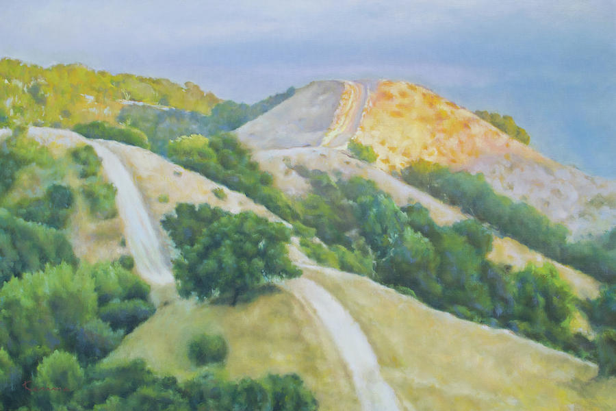 Sunset Over Rolling Hills by Kerima Swain