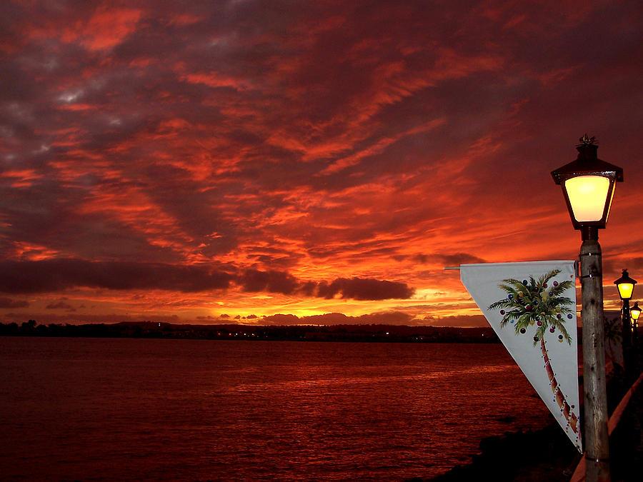 Sunset Over San Diego Photograph By Dave Sribnik