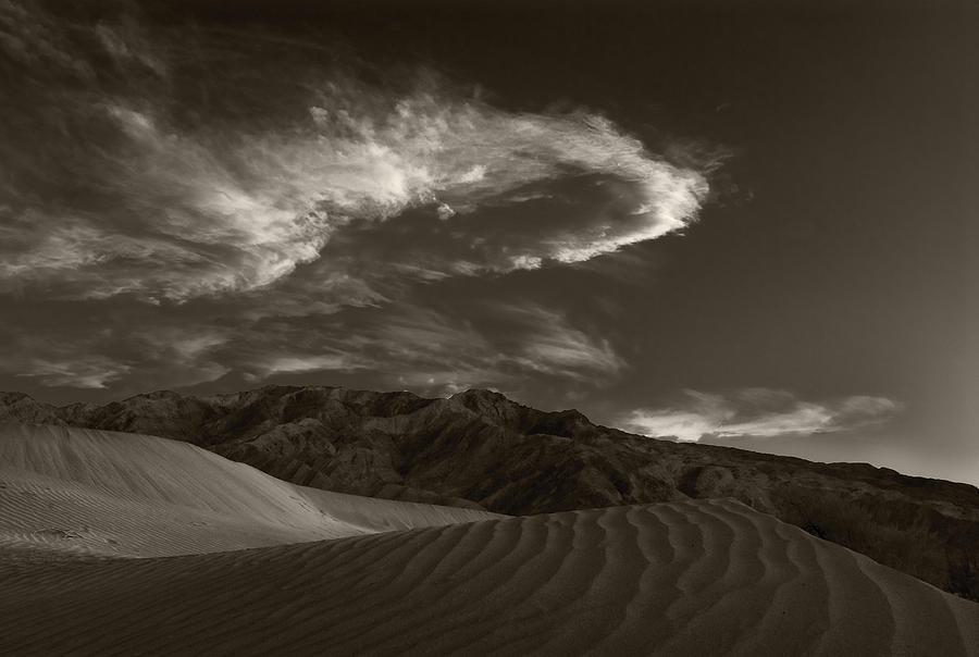 Death Photograph - Sunset Over Sand Dunes Death Valley by Steve Gadomski