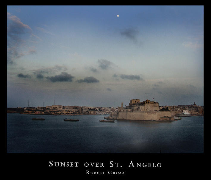 Sunset Over St. Angelo Photograph by Robert  Grima