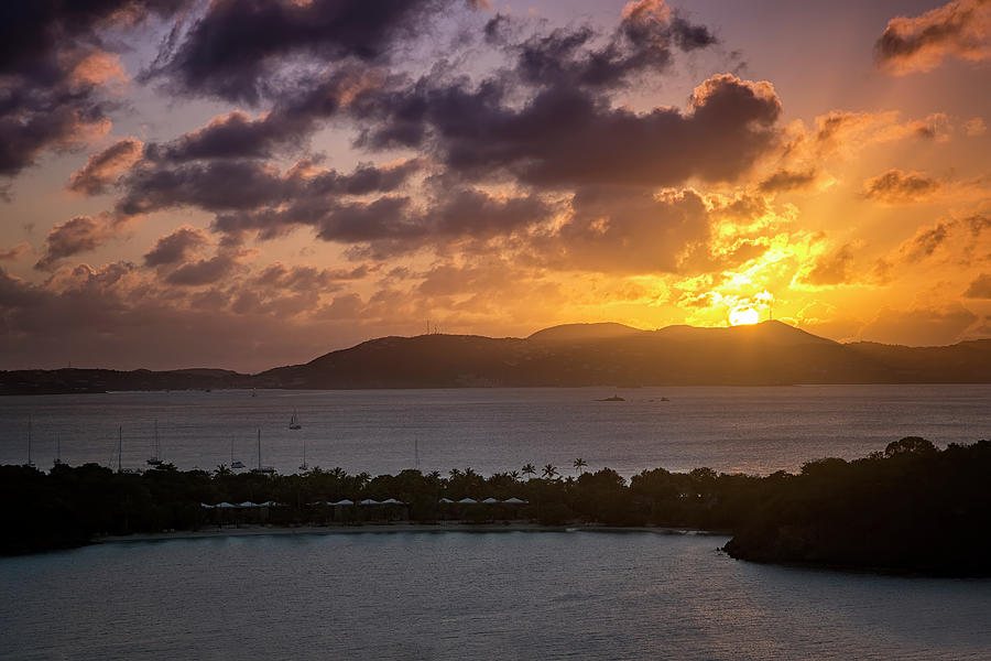 Sunset over St. Thomas by Adam Romanowicz