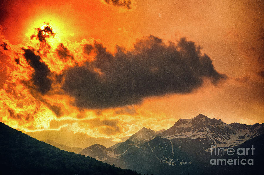 Sunset over the Alps by Silvia Ganora