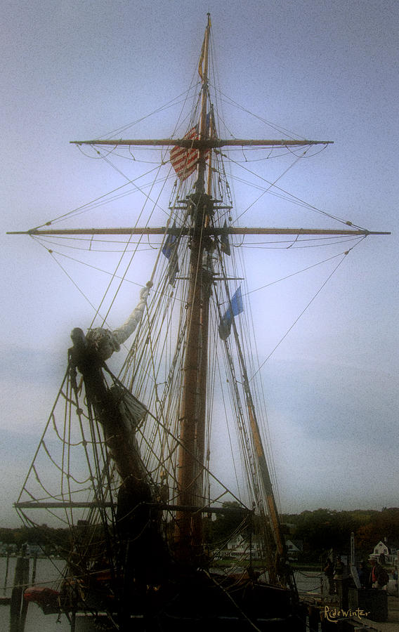 Sailboat Photograph - Sunset Over The Amistad by RC DeWinter