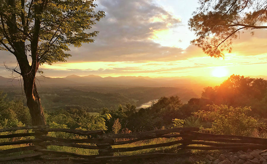 Sunset Over the Blue Ridge Mountains by Paul Schreiber