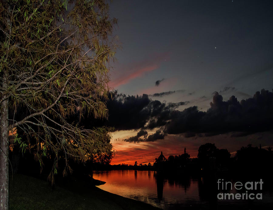 Sunset Photograph - Sunset Over The Caloosahatchee by Judy Hall-Folde