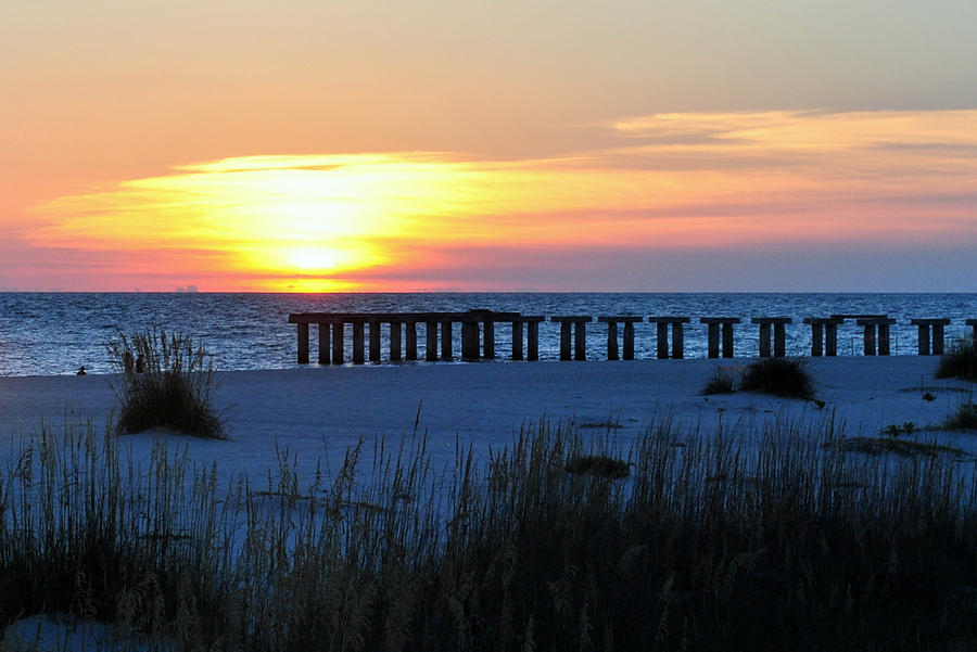 Sunset Photograph - Sunset Over The Gulf Of Mexico by Steven Scott