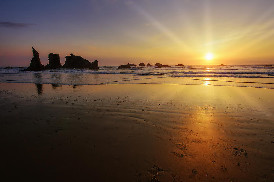 Sunset over the Pacific  by John Kiss