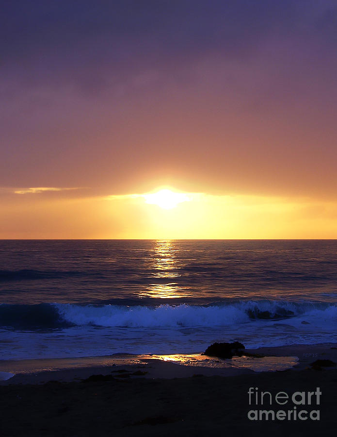 California Photograph - Sunset Over The Pacific by Phil Perkins