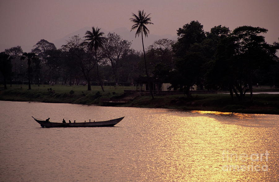 Asia Photograph - Sunset Over The Perfume River by Sami Sarkis
