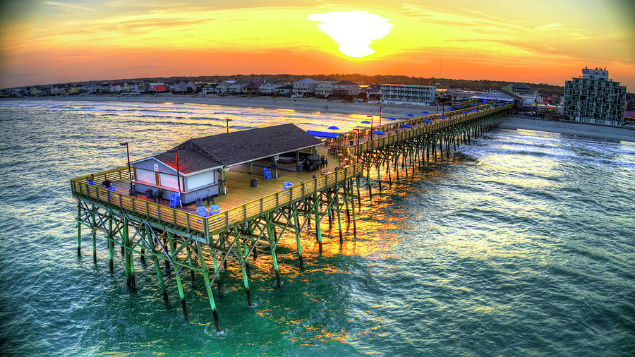 Sunset over The Pier by Robbie Bischoff