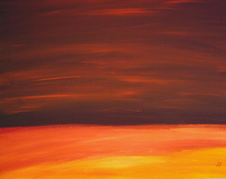 Abstract Landscape Painting - Sunset Over The Sandhills by Leonard Frederick