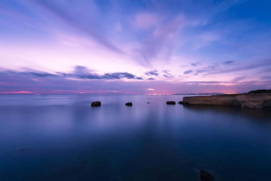 Sunset over the Sicilian sea by Mirko Chessari