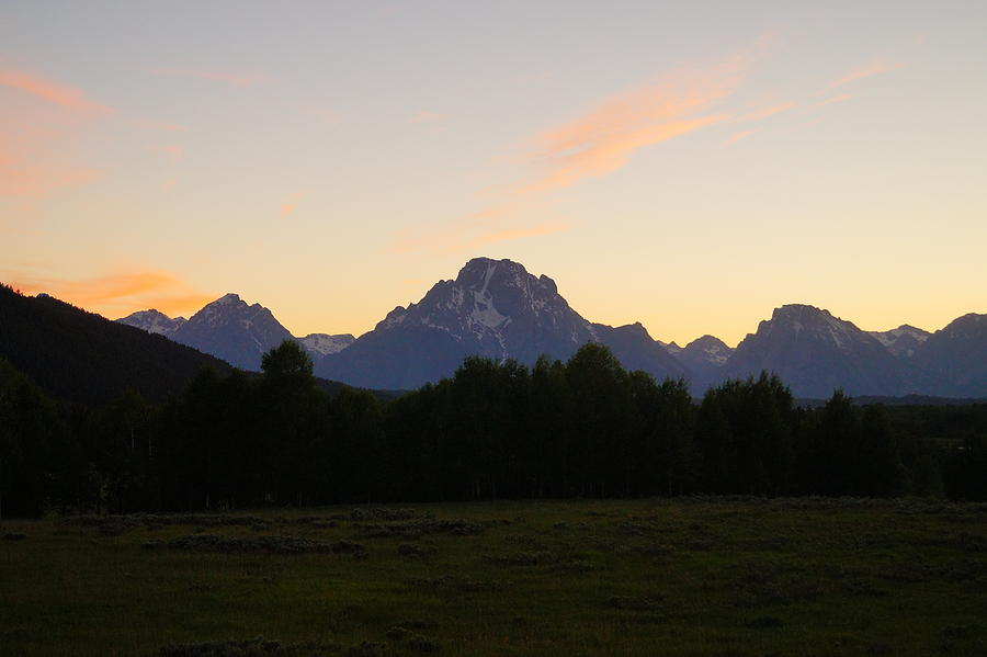 Grand Teton National Park Photograph - Sunset Over The Tetons by Beth Collins