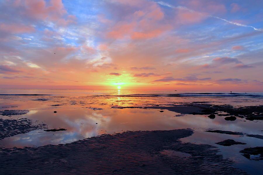 Sunset over Terramar Beach by Joy Buckels