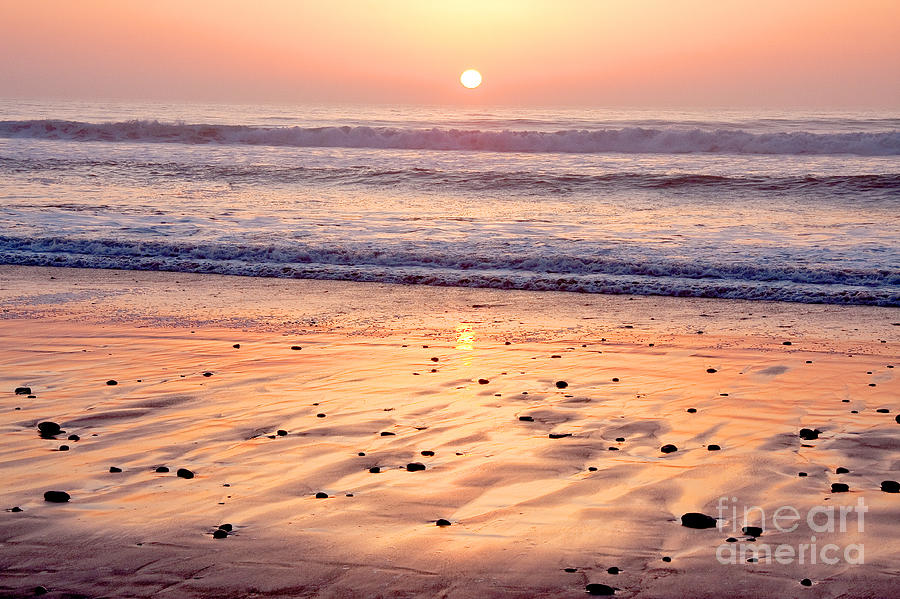 Travel Photograph - Sunset Over Torrey Pines Beach La Jolla California by Julia Hiebaum