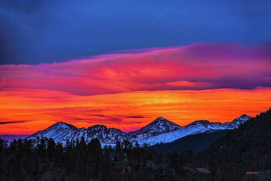 Sunset Over Torreys and Grays Peaks by Stephen Johnson