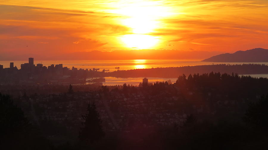 Sunset over Vancouver by Hagen Pflueger