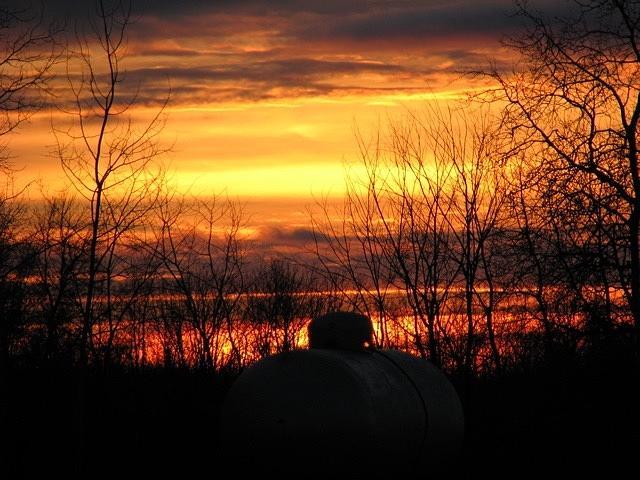 Sunset Photograph - Sunset Over Wisconsin by John Houseman