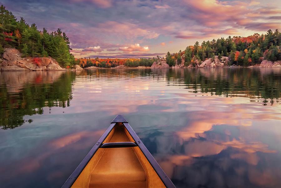 Sunset Paddle by Tracy Munson