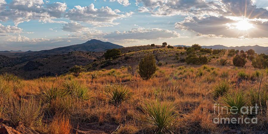 Davis Mountains Photograph - Sunset Panorama Of Blue Mountain At Davis Mountains State Park - Indian Lodge Trail Fort Davis Texas by Silvio Ligutti