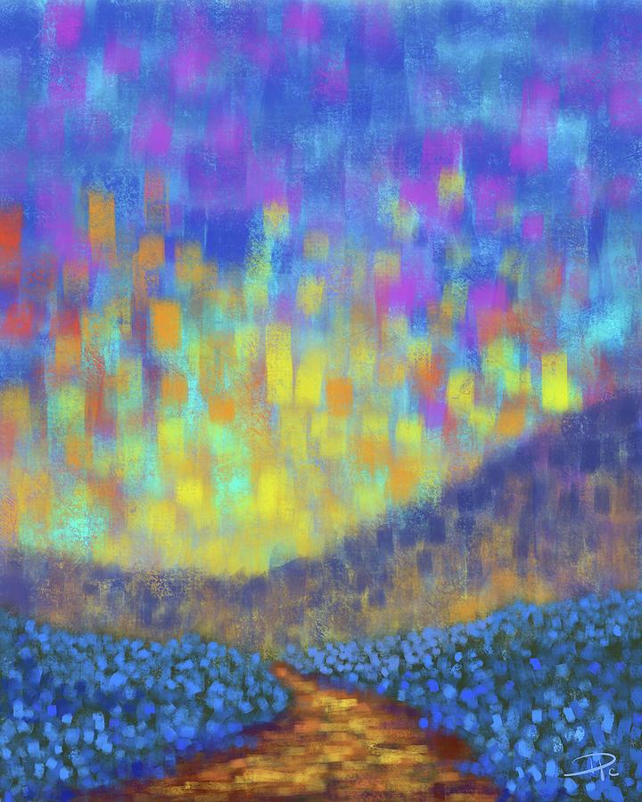 Sunset Digital Art - Sunset Path by David G Paul