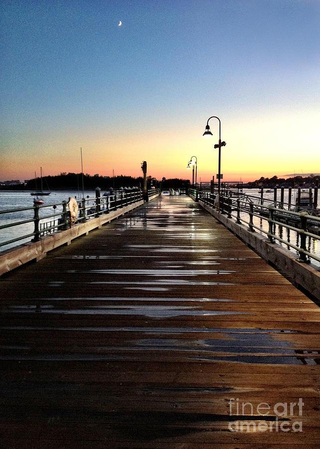 Sunset Photograph - Sunset Pier by Extrospection Art