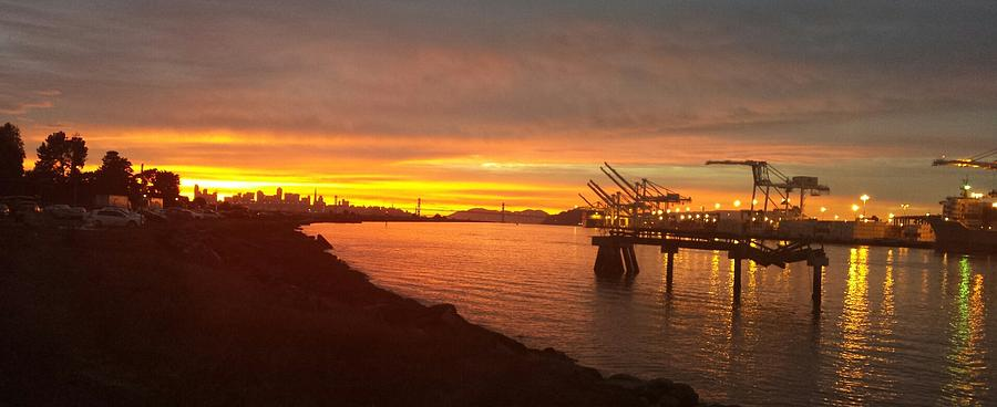 Sunset Port of Oakland by Nimmi Solomon