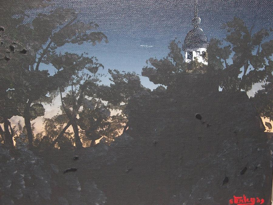 Landscape Painting - Sunset Pt. Reyes Lighthouse by David Stanley