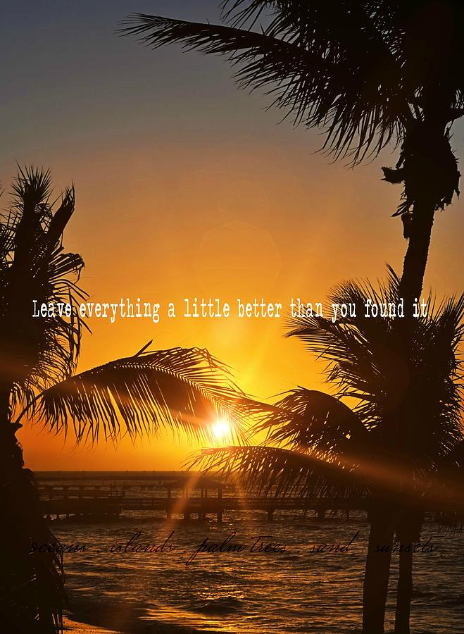 Beach Photograph - Sunset Quote by JAMART Photography