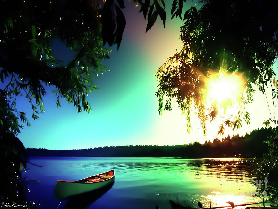 Landscapes Photograph - Sunset Rainbow At Kenmore Washington by Eddie Eastwood