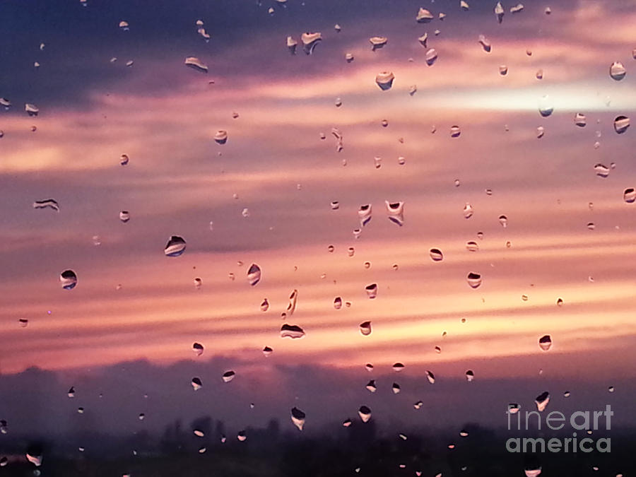 Sunset Photograph - Sunset Raindrops by Alana Boltwood
