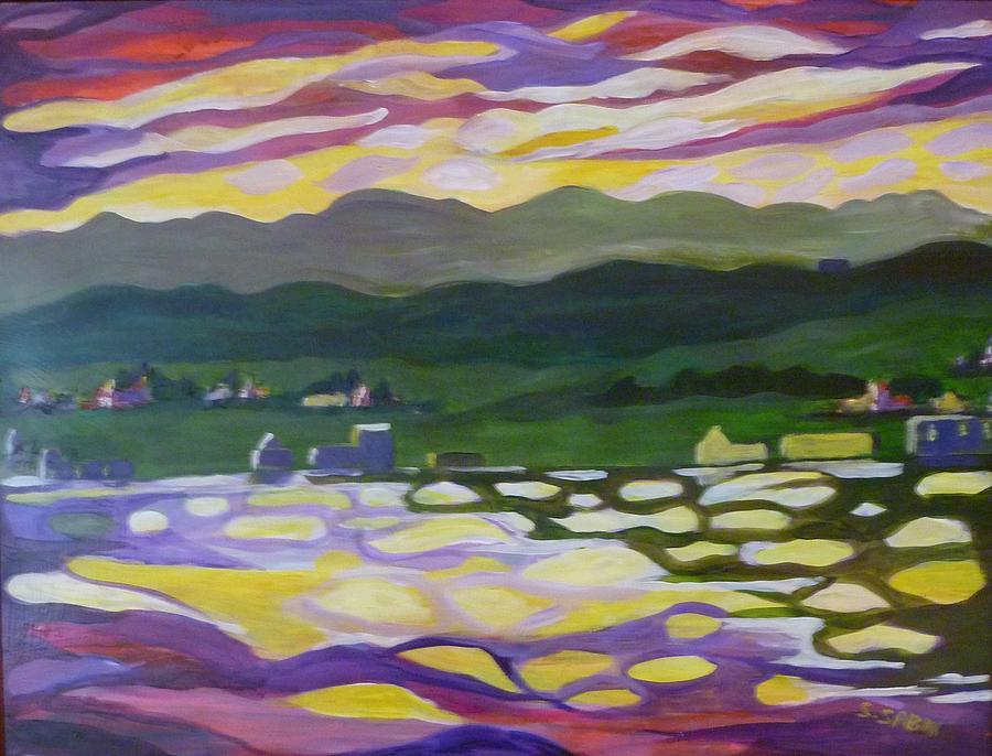 Sunset Painting - Sunset Reflection by Saga Sabin
