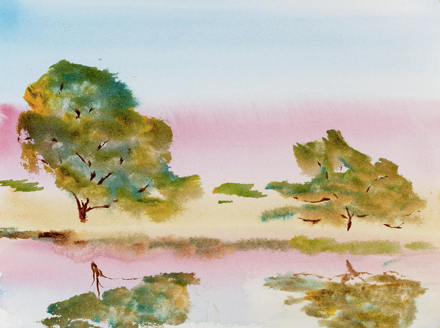 Afternoon Painting - Reflections At Sunrise by Dorothy Darden
