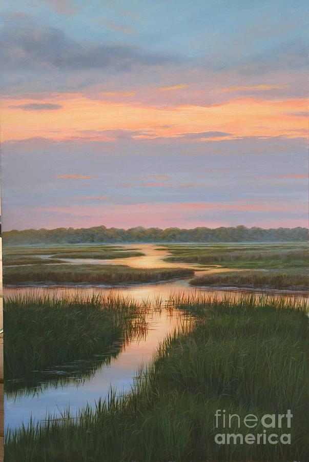Douglas Grier Painting - Sunset Reflections by Douglas Grier