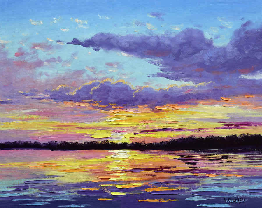 Sunset Reflections Painting