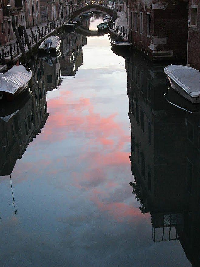 Venice Photograph - Sunset Reflections In Venice by Erla Zwingle