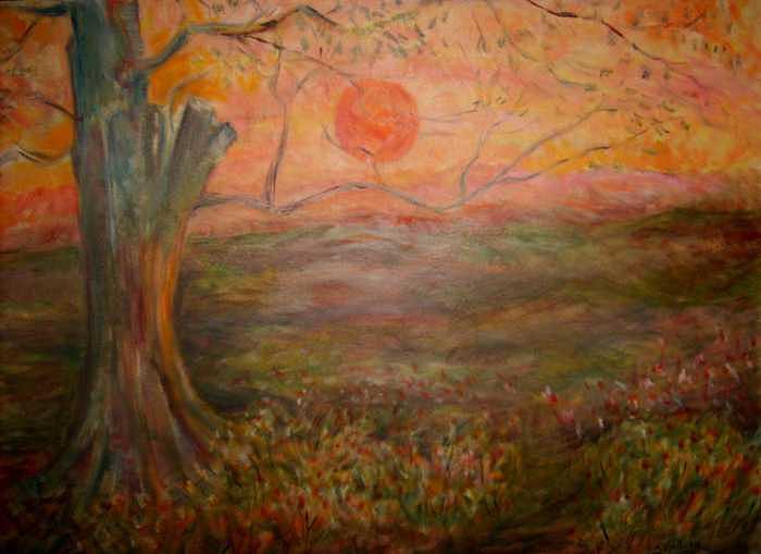 Sunset Rev. Painting by Joseph Sandora Jr