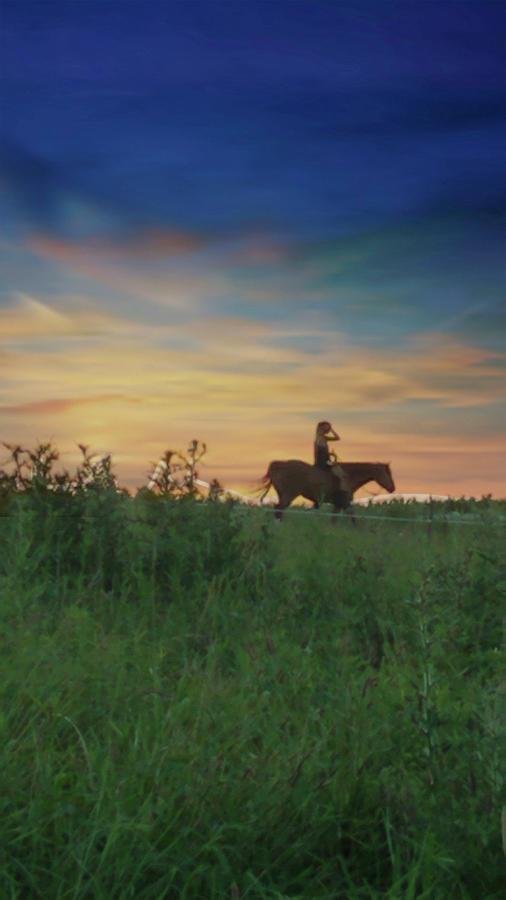 Sunset Ride by Rick Redman