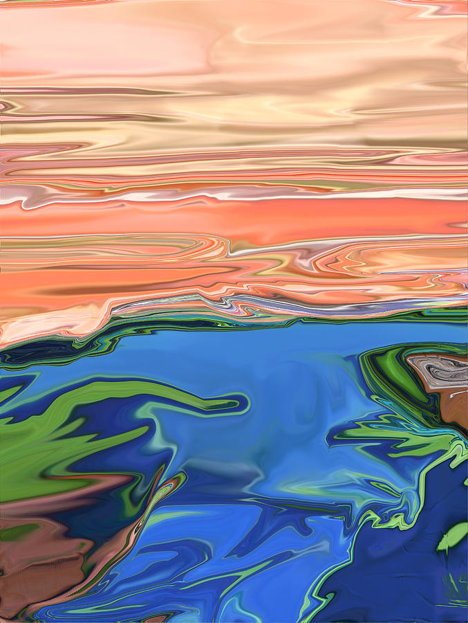 Sunset Digital Art - Sunset River by Kate Collins