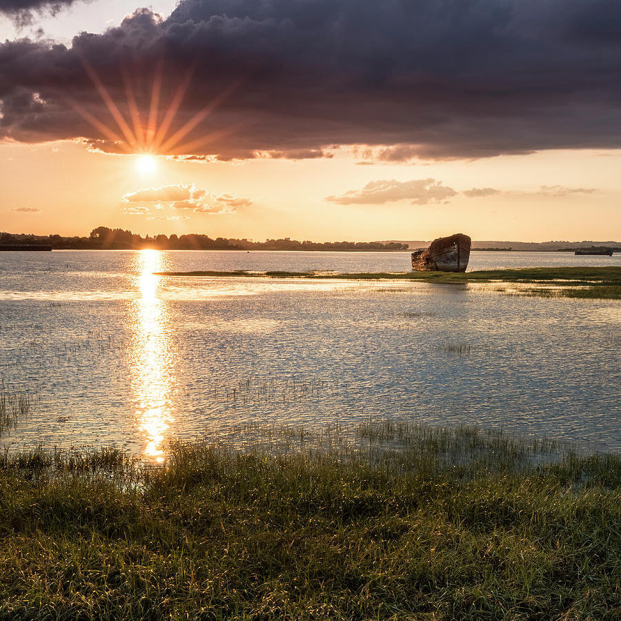 England Photograph - Sunset River by Kelvin Trundle