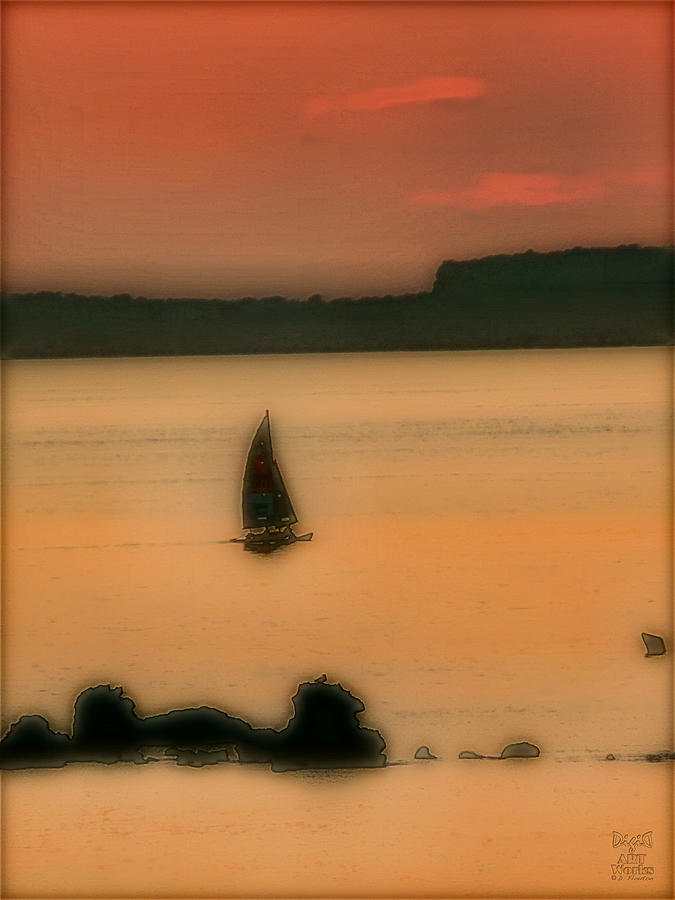 Boat Photograph - Sunset Sail by Dee Flouton