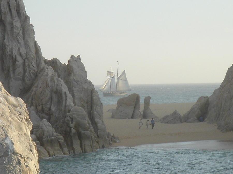 Sail Photograph - Sunset Sail  Los Cabos Mexico by John Julio