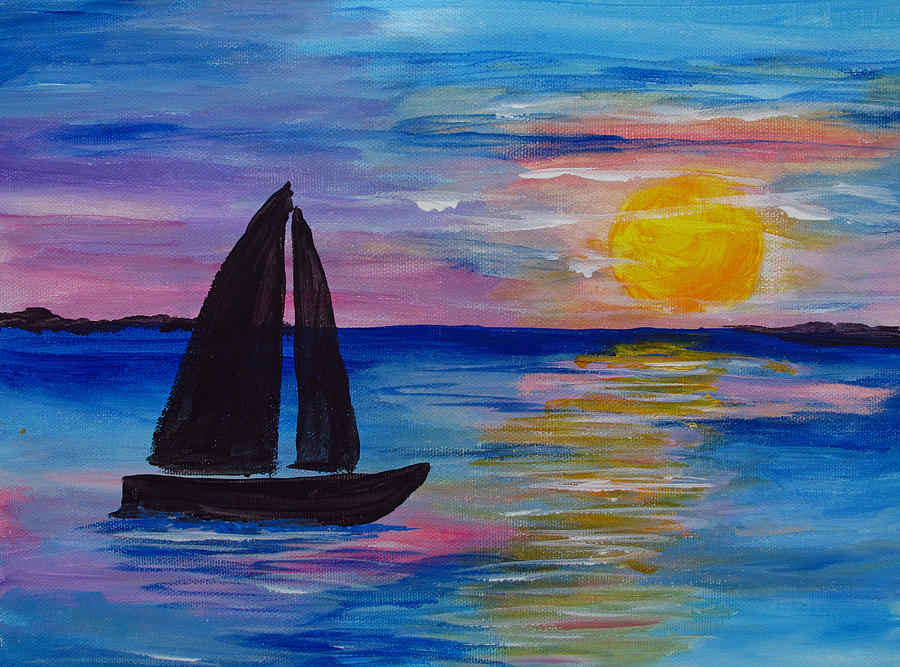 Sunset Sail Small by Barbara McDevitt