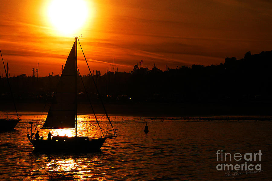 Clay Photograph - Sunset Sailing by Clayton Bruster