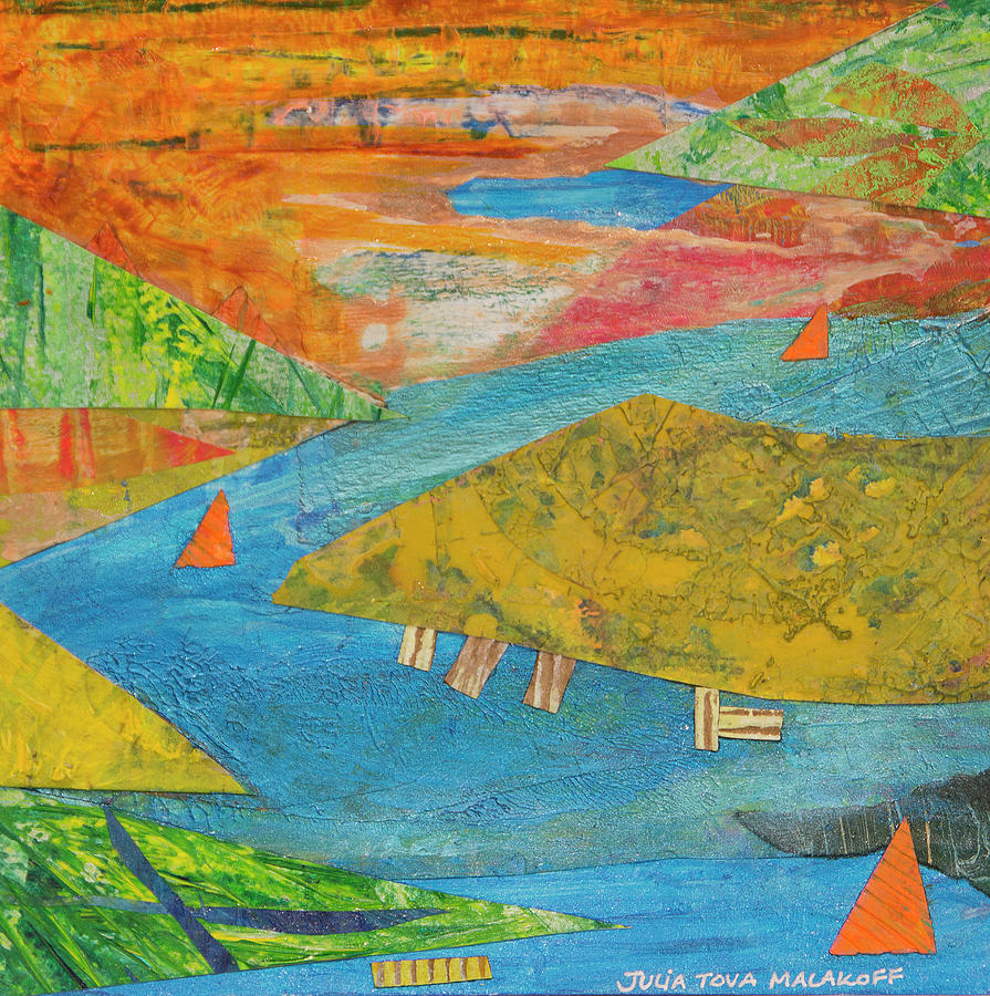 Sunset Sails 1 by Paper Jewels By Julia Malakoff